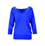 Marie Méro Trui cobalt blue blauw