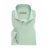 John Miller Overhemd little dot tailored fit green groen