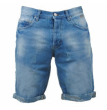 MZ72 Heren bermuda damaged look faith blue denim blauw