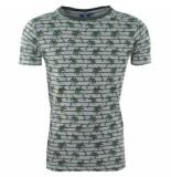 New Republic Heren tshirt ronde hals palmboom grijs groen
