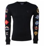 Empire NY Heren sweater hand made patches zwart