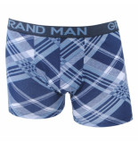 Grand Man Boxershort navy grijs gestreept