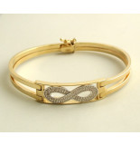 Christian Gouden zirkonia infinity armband geel goud