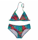 Just Beach Gekleurde triangle bikini cherry leaves