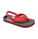 Reef Slipper ahi red/grey grijs