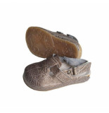 PëPë Pëpë muiltje voor meisjes in metallic leer bruin