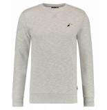 Kultivate 1801031005 153 sweater hornbill light grey melange grijs