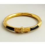 Christian 23 karaat gouden armband met onyx geel goud