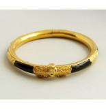 Christian 23 karaat gouden armband met onyx