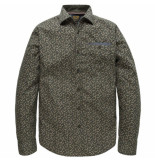 PME Legend Psi185204 6447 long sleeve shirt poplin print seth kalamata groen