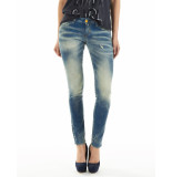 Meltin'Pot Jeans malva super power stretch light blue blauw
