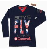 Boys in Control 503a navy shirt blauw