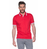 Campbell Polo met korte mouwen rood