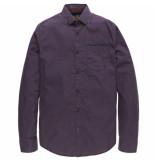 PME Legend Long sleeve shirt poplin print watson chocolate tr paars