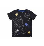 Beebielove Shirt korte mouw star antracite zwart
