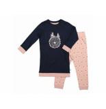 Charlie Choe Pyjama set girls tree of love donkerb blauw