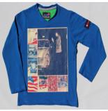 Boys in Control 302b cobalt shirt blauw