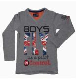 Boys in Control 503a grey melange shirt grijs melange