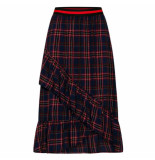 Sisters Point Maxi rok vezzi red check blauw