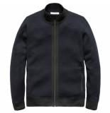 Cast Iron Ckc186446 5287 zip jacket double knit wool cotton dark sapphire blauw