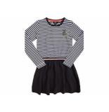 Little Miss Juliette Sweat dress streep elvy zwart