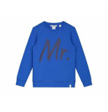 Nik & Nik Sweater george true blue kobalt blauw