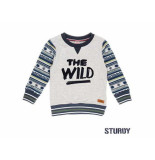 Sturdy Sweater the wild outsiders melee grijs