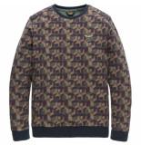 PME Legend Pts187513 6026 r-neck jacquard jersey urban chic groen