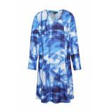 DIDI Luchtige jurk met v-hals blauw