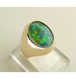 Christian Gouden ring met opaal