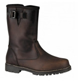 Berghen Enkellaars aude leather dark brown bruin