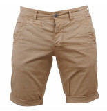 Paname Brothers Heren short bahamas slim fit beige