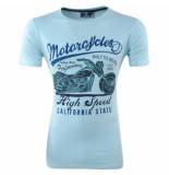 New Republic Heren tshirt ronde hals california turquoise