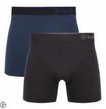Bamboo Basics 2pack heren boxershorts navy zwart blauw