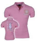 Montazinni Heren polo met korte mouwen polo legends roze