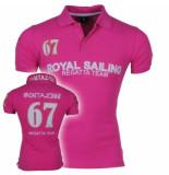 Montazinni Heren polo met korte mouwen royal sailing roze