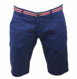 Biaggio Jeans Heren korte broek faniel navy blauw