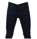 Bravo Jeans Heren jeans slim fit stretch lengte 34 blauw