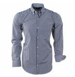 Enrico Polo Heren overhemd geblokt borstzak zwart