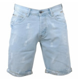 MZ72 Heren bermuda damaged look faith denim blauw