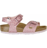 Birkenstock Rio magic snake rose regular roze