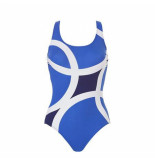Tweka Swimsuit half lining 039057 blauw