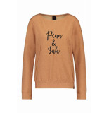 Penn & Ink S19f421lab 957/90 ny sweater emb. copper - black