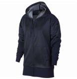 Nike W nk dry hoodie fz shimmer 040184 blauw