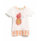 Scotch R'Belle T-shirt 2 in 1 style cropped white