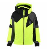 Spyder Bryte gele ski jas boy's leader met 10.000mm waterkolom geel