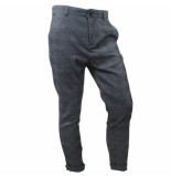 Carisma Heren pantalon geruit sweat zwart