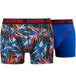 Zaccini 2pack boxershorts trendy design blauw