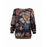 MAICAZZ Dames blouse ineke flower . zwart