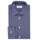 Eton Overhemd met lange mouwen blauw